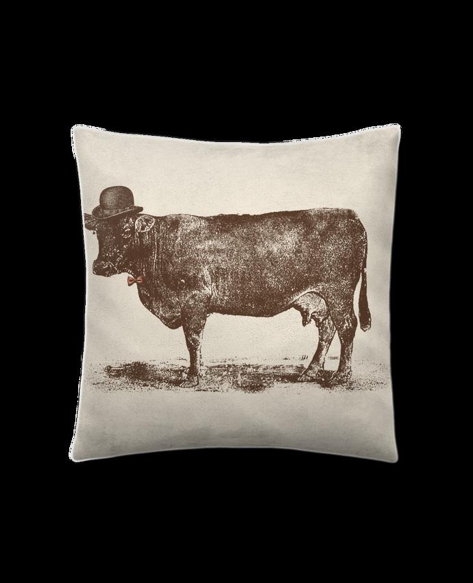 Coussin Toucher Peau de Pêche 41 x 41 cm Cow Cow Nut par Florent Bodart