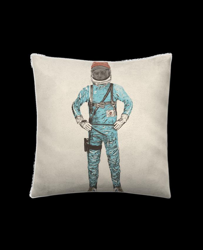 Coussin Toucher Peau de Pêche 41 x 41 cm Zissou in space par Florent Bodart