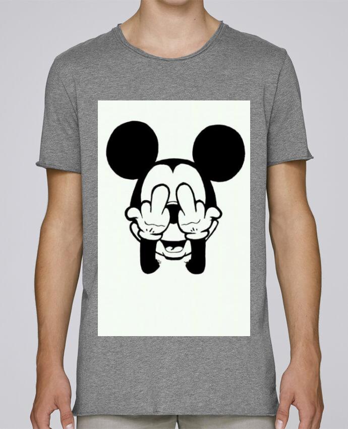T-shirt Homme Oversized Stanley Skates Vetement mickey doigt d'honneur par mateo