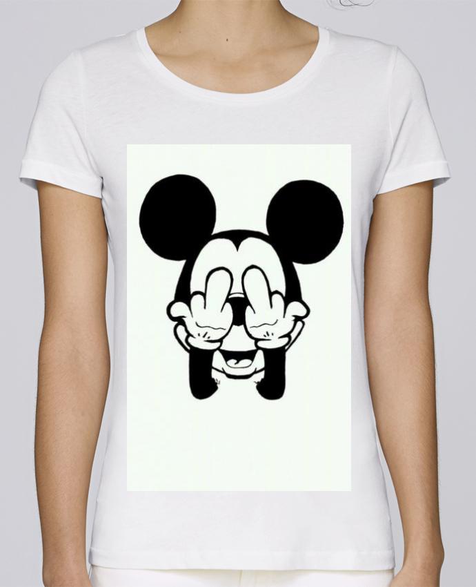 T-shirt Femme Stella Loves Vetement mickey doigt d'honneur par mateo