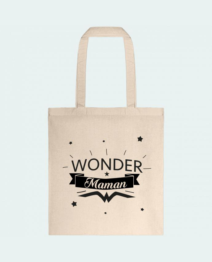 Sac en Toile Coton Wonder Maman par IDÉ'IN