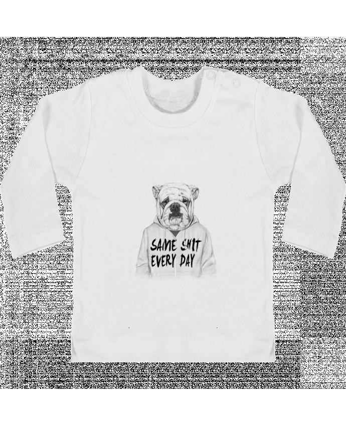 T-shirt Bébé Manches Longues Boutons Pression Same shit every day manches longues du designer Balàzs Solti