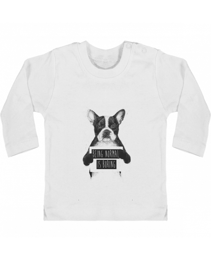 T-shirt Bébé Manches Longues Boutons Pression Being normal is boring manches longues du designer Balàzs Solti