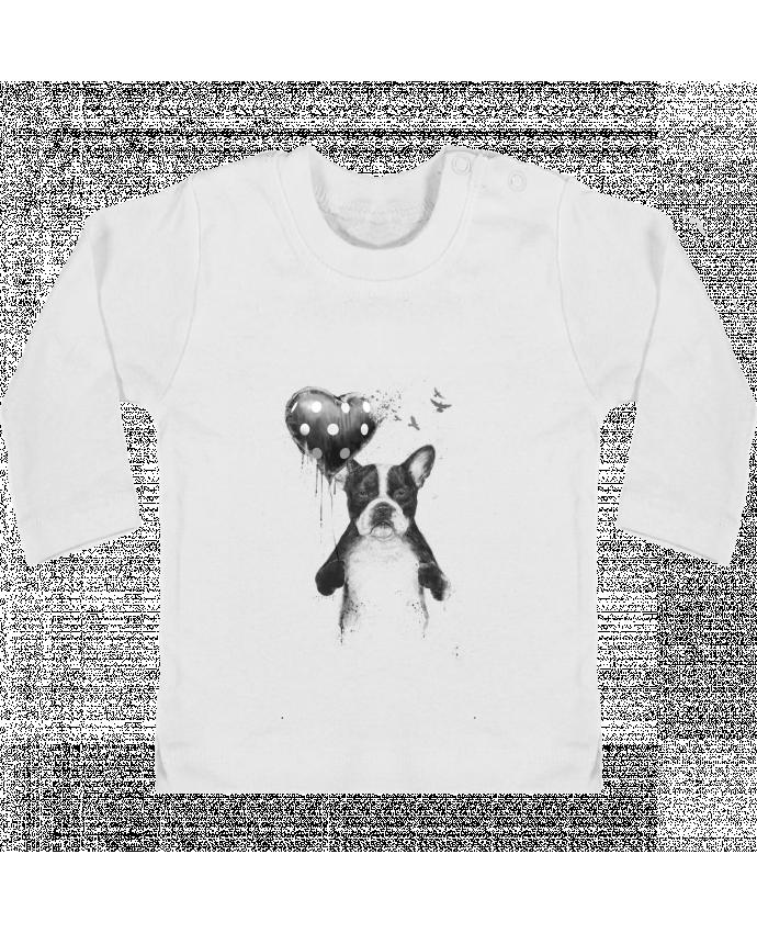 T-shirt Bébé Manches Longues Boutons Pression my_heart_goes_boom manches longues du designer Balàzs Solti