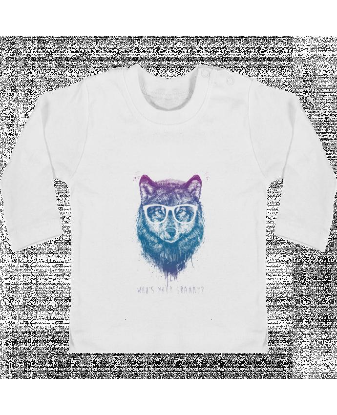 T-shirt Bébé Manches Longues Boutons Pression whos_your_granny manches longues du designer Balàzs Solti