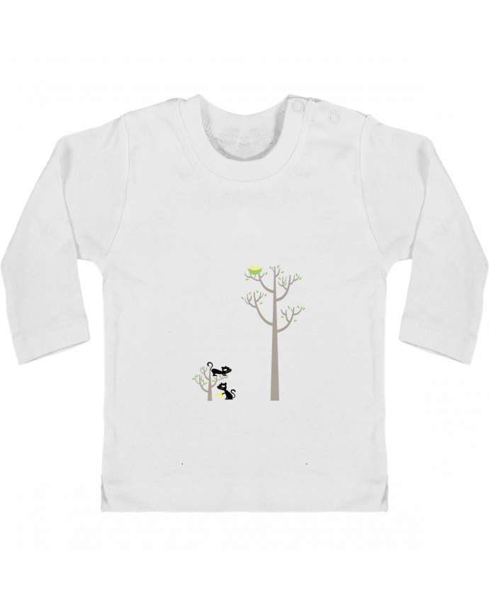 T-shirt Bébé Manches Longues Boutons Pression Growing a plant for Lunch manches longues du designer flyingmouse365
