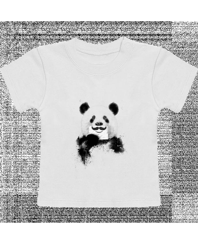 T-Shirt Bébé Manches Courtes Funny Panda Balàzs Solti manches courtes du designer Balàzs Solti
