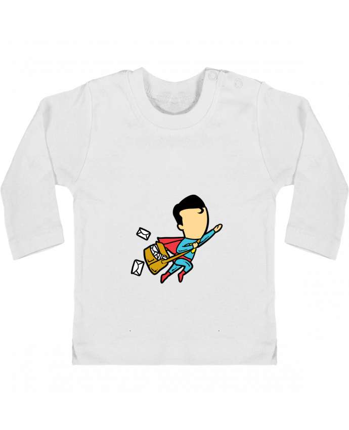 T-shirt Bébé Manches Longues Boutons Pression Post manches longues du designer flyingmouse365