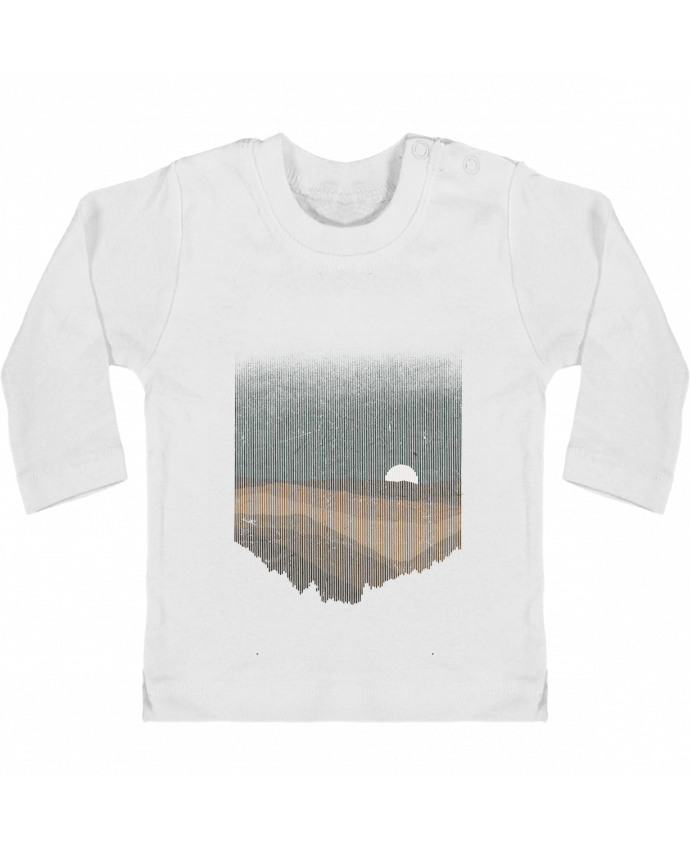 T-shirt Bébé Manches Longues Boutons Pression Moonrise Sepia manches longues du designer Florent Bodart