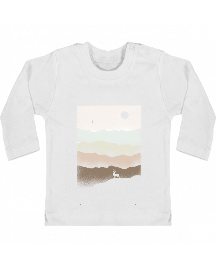 T-shirt Bébé Manches Longues Boutons Pression Quietude manches longues du designer Florent Bodart
