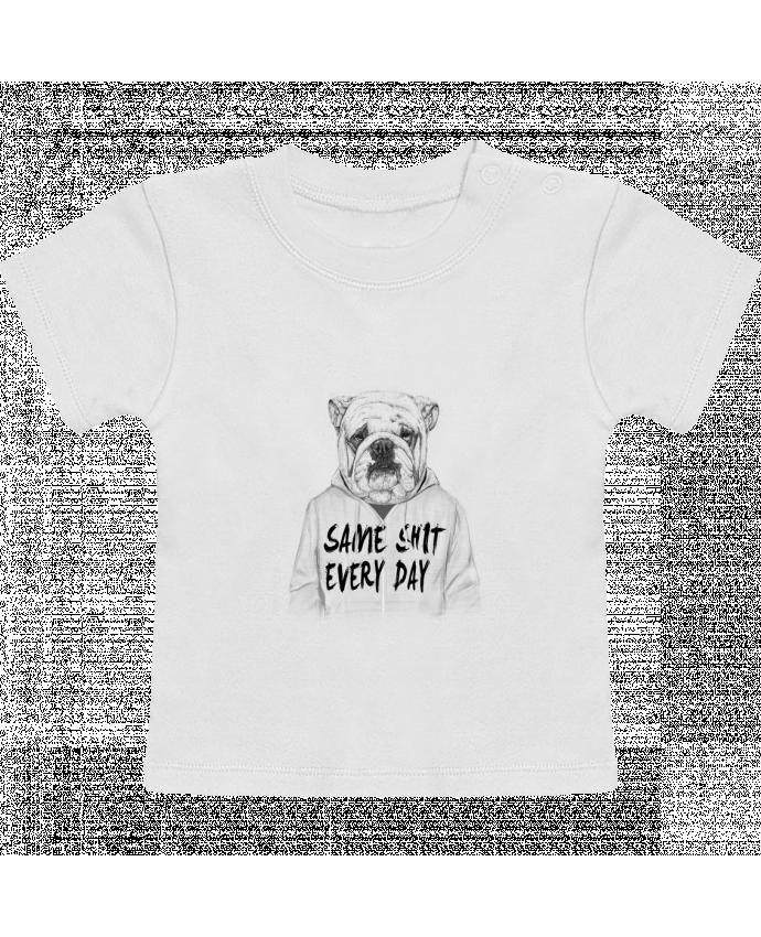 T-Shirt Bébé Manches Courtes Same shit every day manches courtes du designer Balàzs Solti