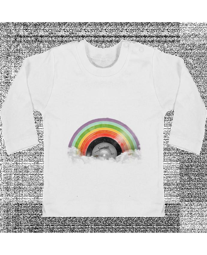 T-shirt Bébé Manches Longues Boutons Pression Rainbow Classics manches longues du designer Florent Bodart