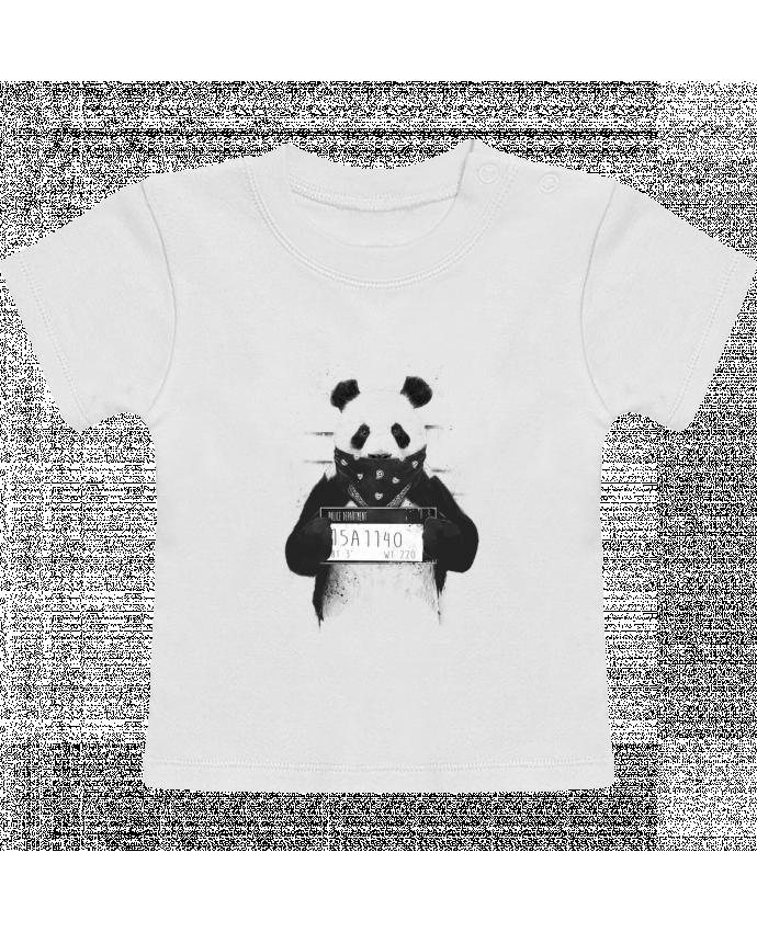 T-Shirt Bébé Manches Courtes Bad panda manches courtes du designer Balàzs Solti