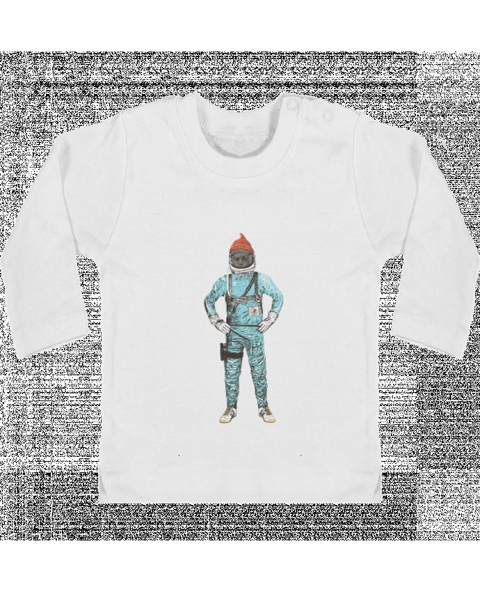 T-shirt Bébé Manches Longues Boutons Pression Zissou in space manches longues du designer Florent Bodart