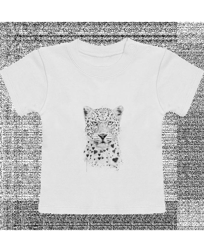T-Shirt Bébé Manches Courtes lovely_leopard manches courtes du designer Balàzs Solti