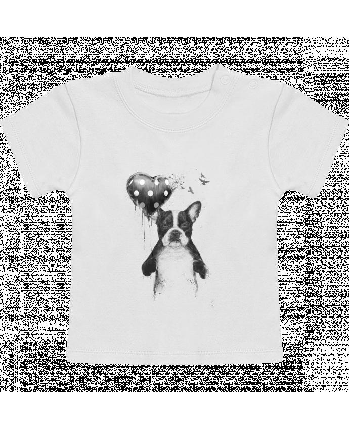 T-Shirt Bébé Manches Courtes my_heart_goes_boom manches courtes du designer Balàzs Solti