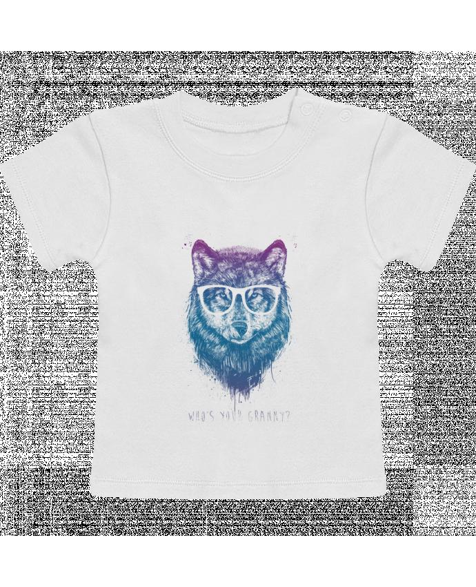 T-Shirt Bébé Manches Courtes whos_your_granny manches courtes du designer Balàzs Solti