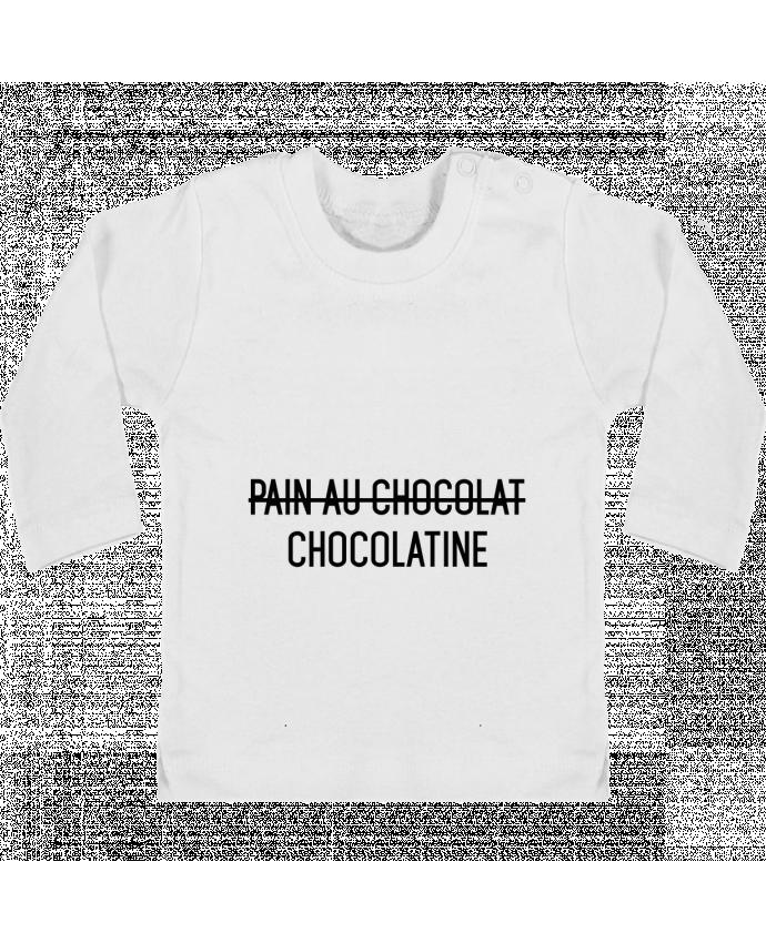 T-shirt Bébé Manches Longues Boutons Pression Chocolatine manches longues du designer tunetoo