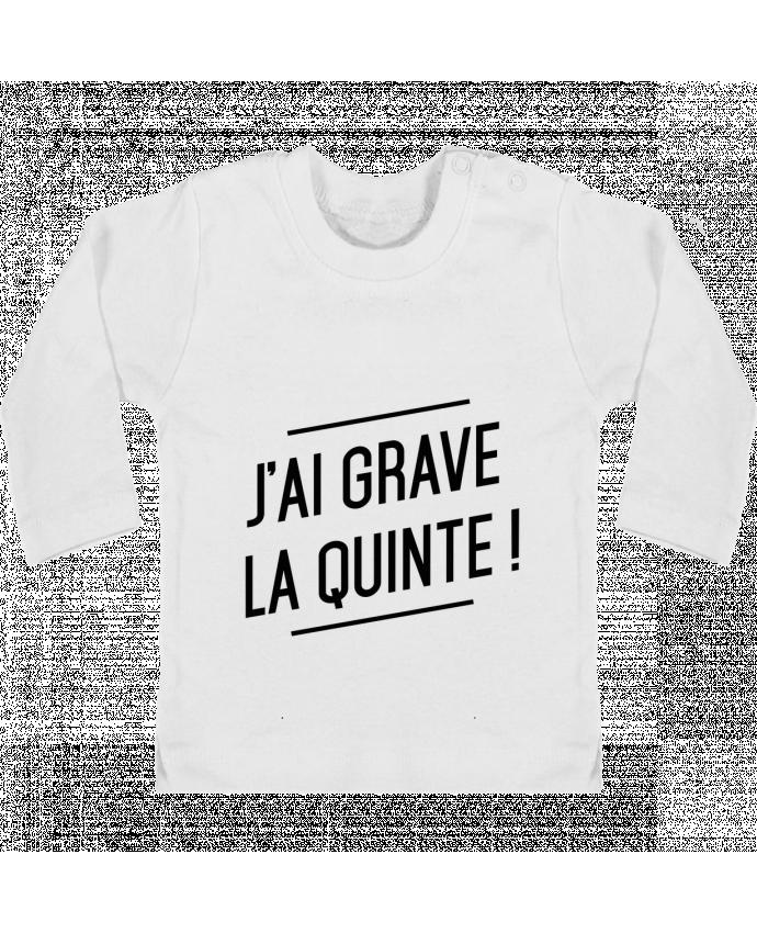 T-shirt Bébé Manches Longues Boutons Pression La quinte ! manches longues du designer tunetoo