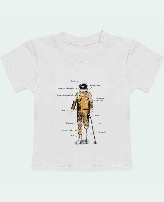 T-Shirt Bébé Manches Courtes Astropirate with text manches courtes du designer Florent Bodart