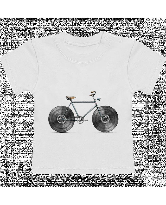 T-shirt bébé Velophone manches courtes du designer Florent Bodart