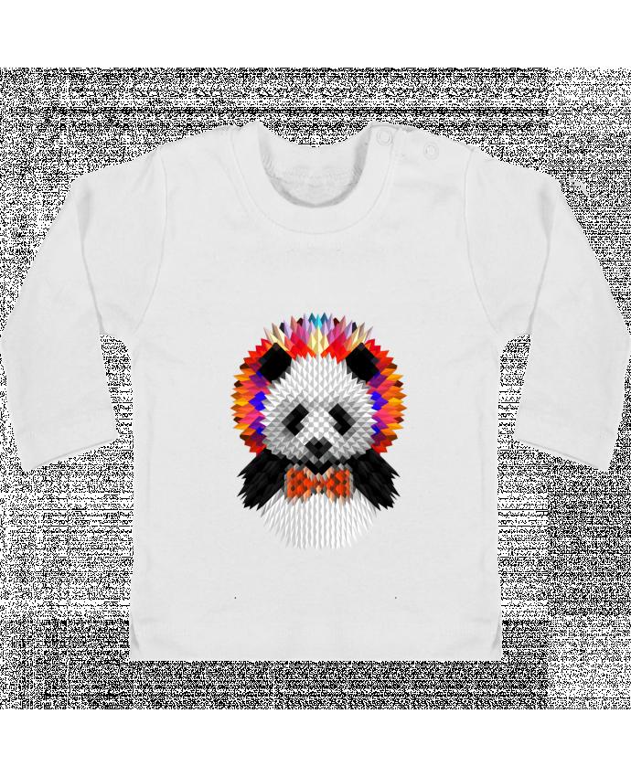 T-shirt Bébé Manches Longues Boutons Pression Panda manches longues du designer ali_gulec