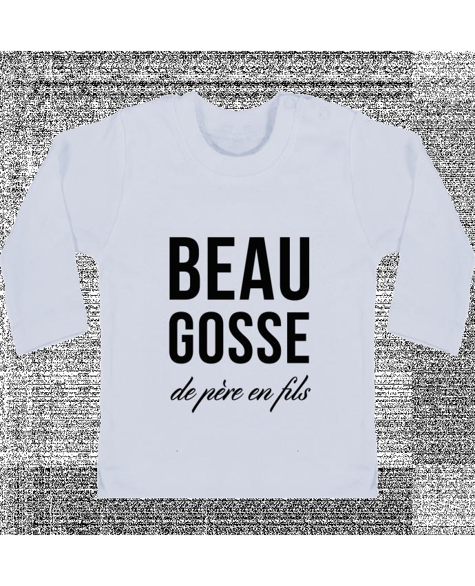 T-shirt Bébé Manches Longues Boutons Pression Beau gosse de père en fils manches longues du designer tunetoo