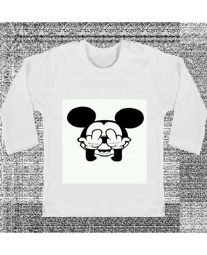 T-shirt Bébé Manches Longues Boutons Pression Vetement mickey doigt d'honneur manches longues du designer Designer_TUNETOO