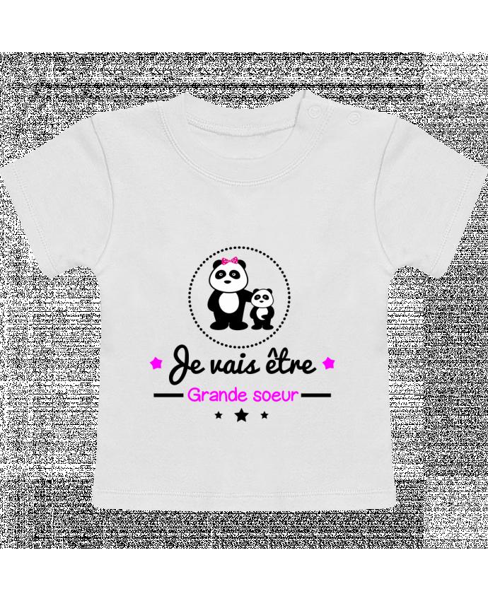 T-Shirt Bébé Manches Courtes Bientôt grande soeur - Future grande soeur manches courtes du designer Benichan