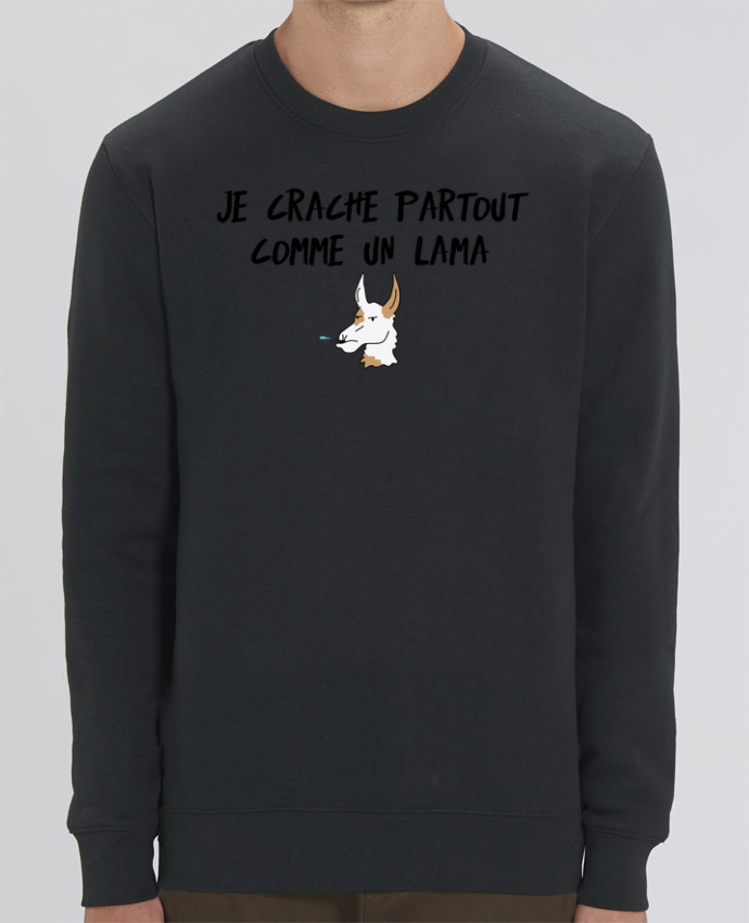Sweat-shirt Je crache comme un Lama Citation Dikkenek Par tunetoo