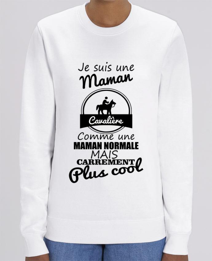 Sweat-shirt Je suis une maman cavalière comme une maman normale mais carrément plus cool Par Benicha