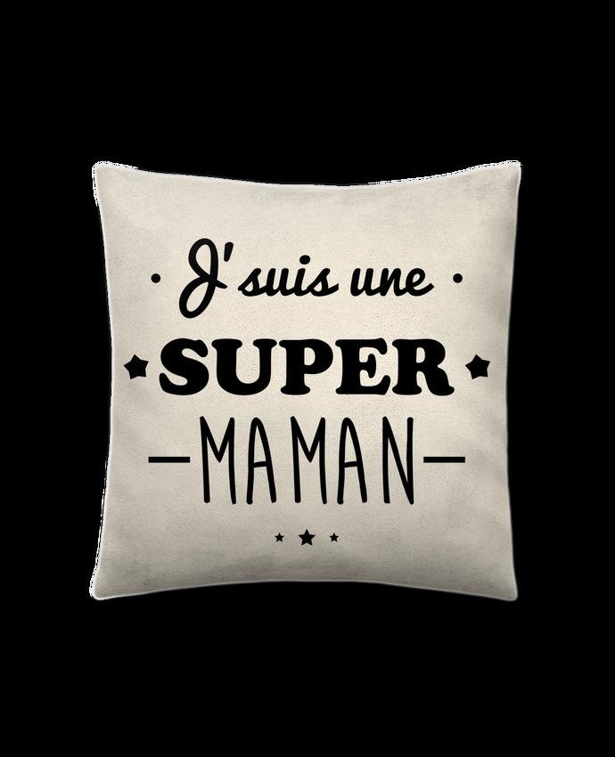 Coussin suédine J'suis une super maman, cadeau fête des mères par Benichan