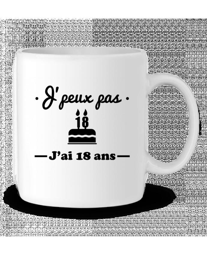 Mug en Céramique J'peux pas j'ai 18 ans, cadeau d'anniversaire par Benichan