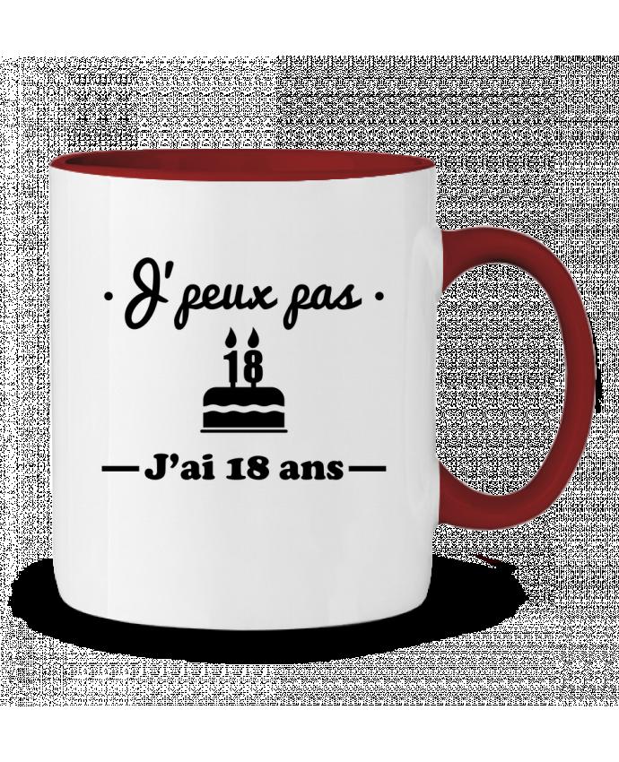 Mug en Céramique Bicolore J'peux pas j'ai 18 ans, cadeau d'anniversaire Benichan