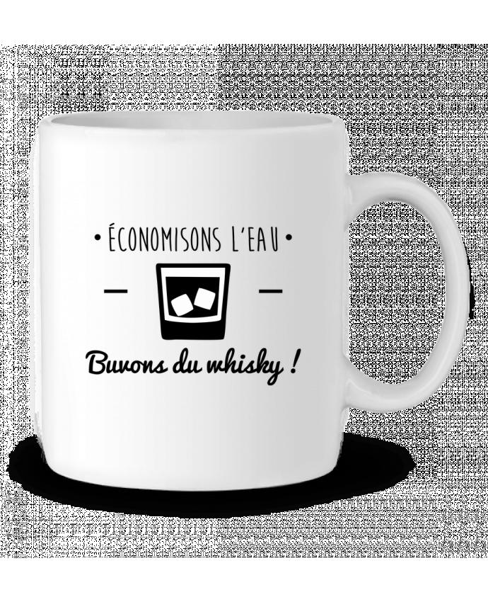 Mug en Céramique Economisons l'eau, buvons du whisky, humour,dicton par Benichan
