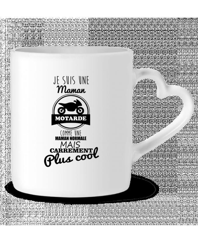 Mug Coeur Maman motarde, cadeau mère, moto par Benichan