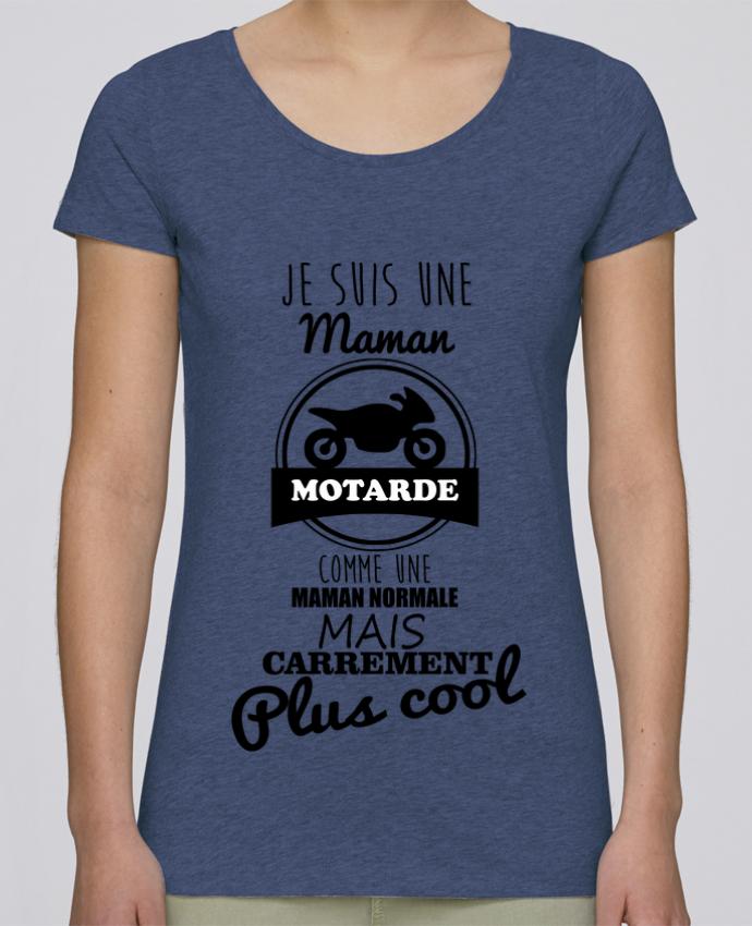 T-shirt Femme Stella Loves Maman motarde, cadeau mère, moto par Benichan