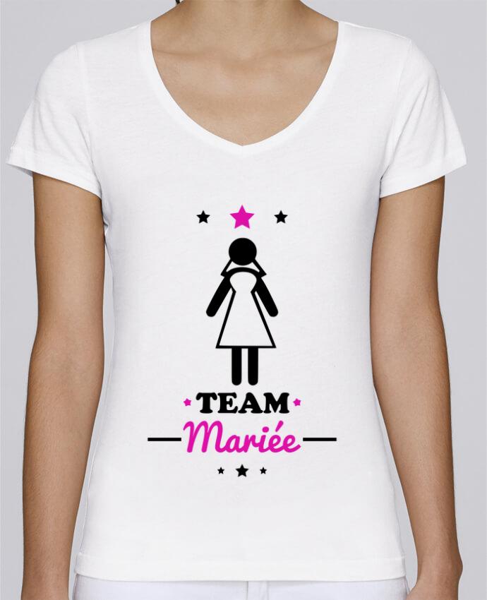 T-shirt Femme Col V Stella Chooses Team mariée : enterrement de vie de jeune fille par Benichan