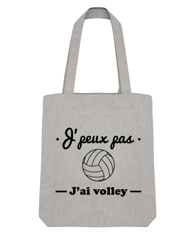 Tote Bag Stanley Stella J'peux pas j'ai volley , volleyball, volley-ball par Benichan