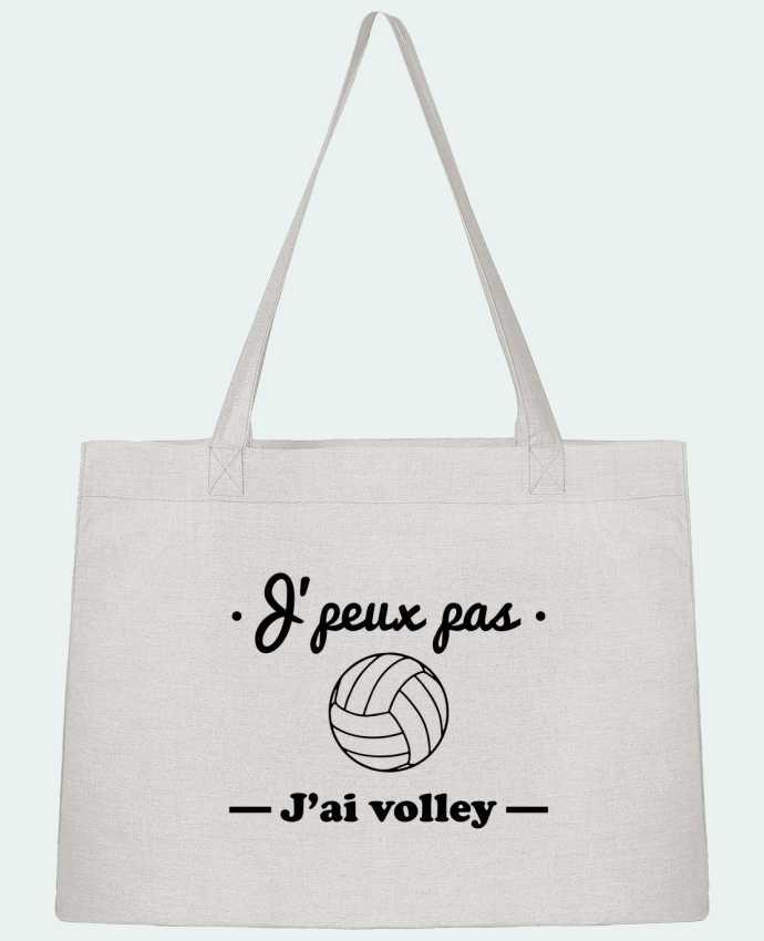 Sac Shopping J'peux pas j'ai volley , volleyball, volley-ball par Benichan