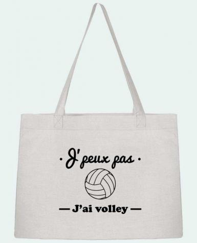 Sac Cabas Shopping Stanley Stella J'peux pas j'ai volley , volleyball, volley-ball par Benichan