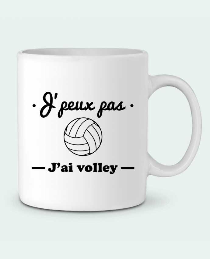 Mug en Céramique J'peux pas j'ai volley , volleyball, volley-ball par Benichan