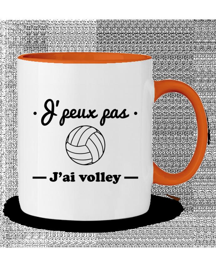 Mug en Céramique Bicolore J'peux pas j'ai volley , volleyball, volley-ball Benichan