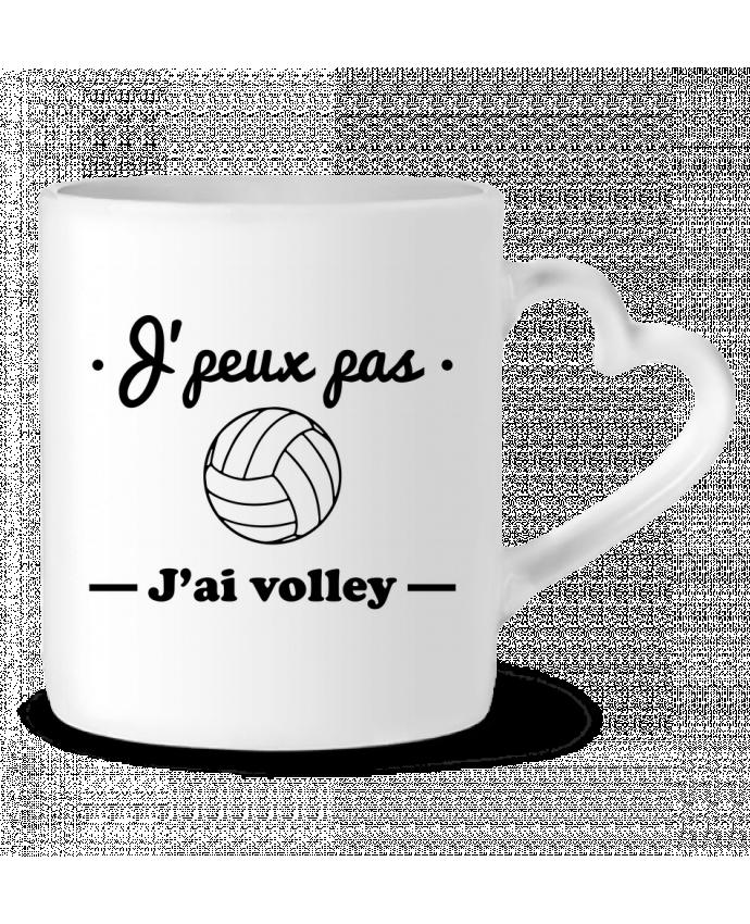 Mug Coeur J'peux pas j'ai volley , volleyball, volley-ball par Benichan