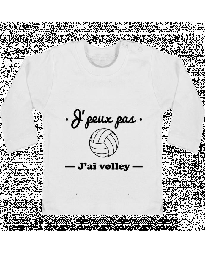 T-shirt Bébé Manches Longues Boutons Pression J'peux pas j'ai volley , volleyball, volley-ball manches longues du designer Benichan