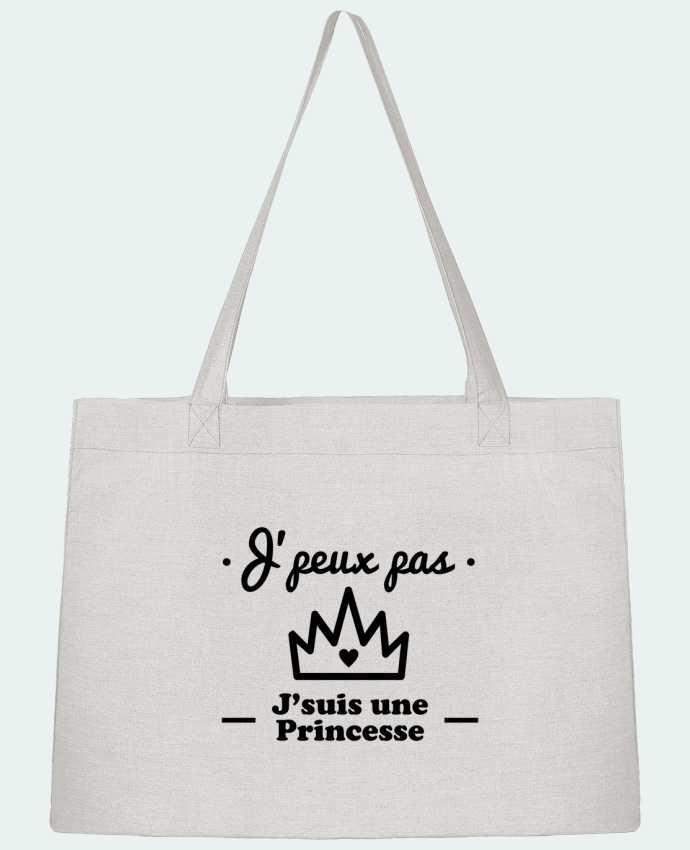 Sac Cabas Shopping Stanley Stella J'peux pas j'suis une princesse, humour, citations, drôle par Benichan