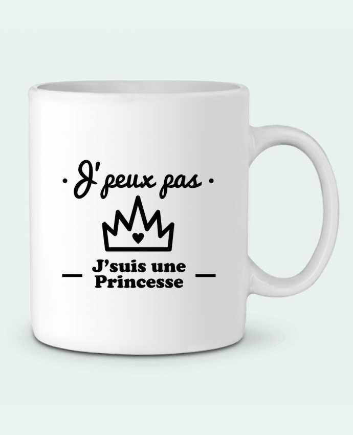 Mug en Céramique J'peux pas j'suis une princesse, humour, citations, drôle par Benichan