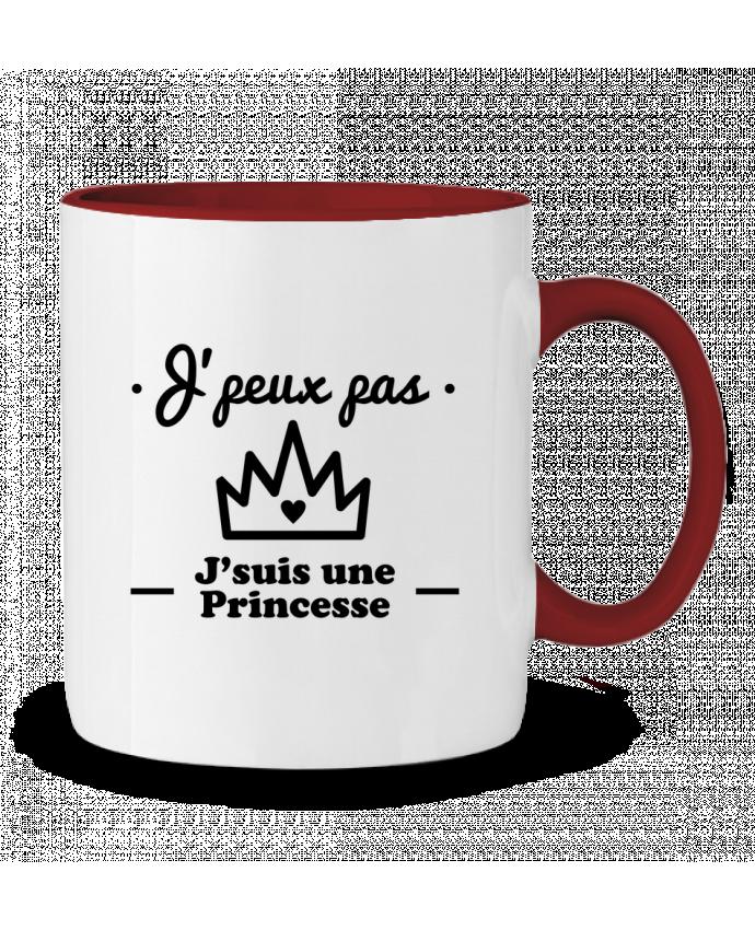 Mug en Céramique Bicolore J'peux pas j'suis une princesse, humour, citations, drôle Benichan