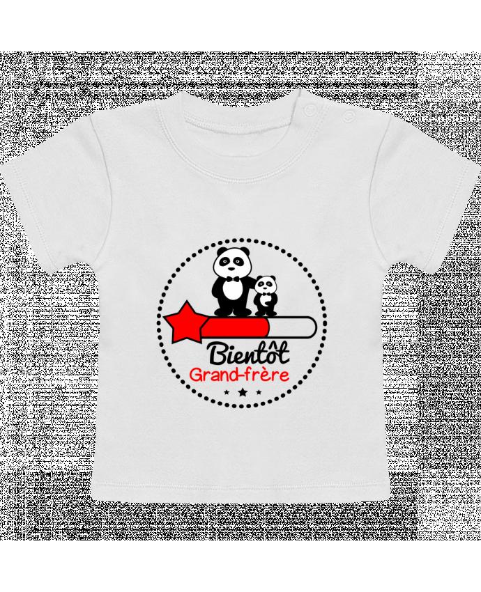 T-Shirt Bébé Manches Courtes Bientôt grand-frère , futur grand frère manches courtes du designer Benichan