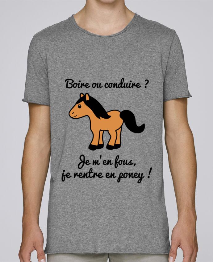 T-shirt Homme Oversized Stanley Skates Boire ou conduire, je m'en fous je rentre en poney, humour, alcoo